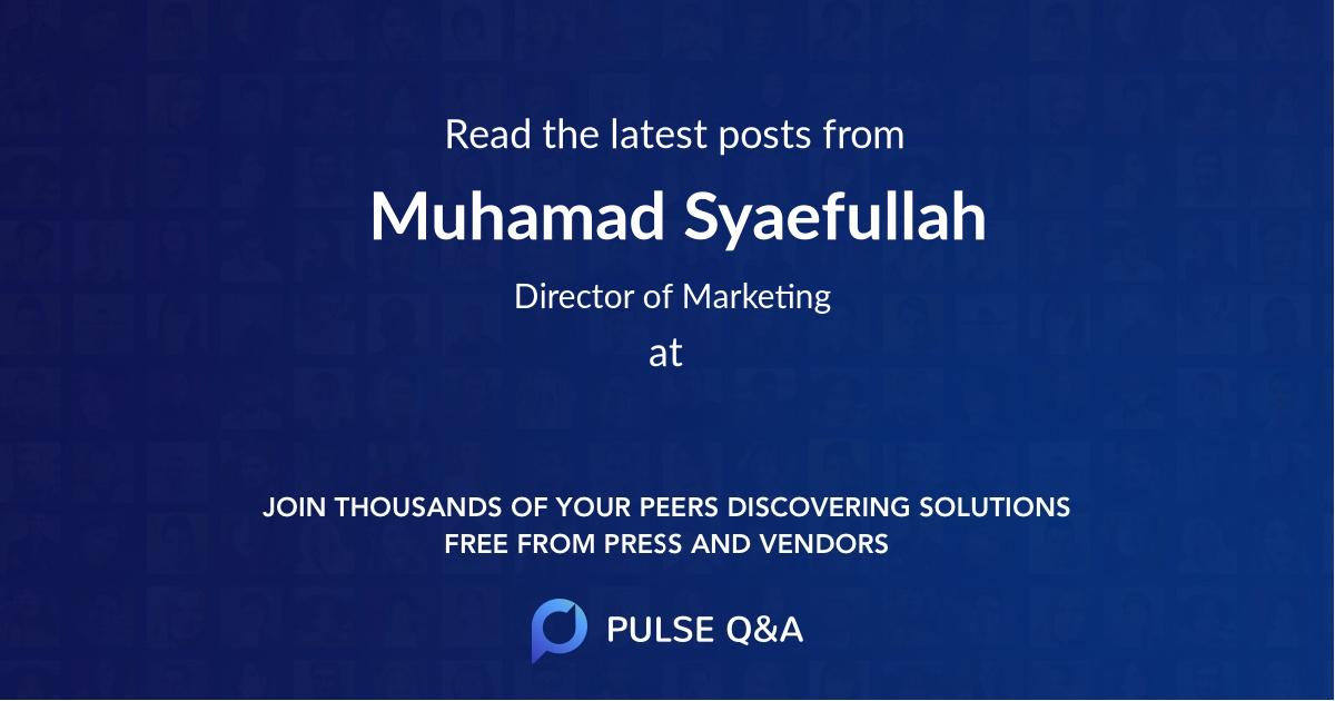 Muhamad Syaefullah