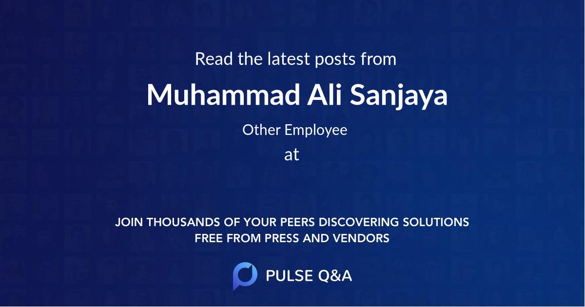 Muhammad Ali Sanjaya