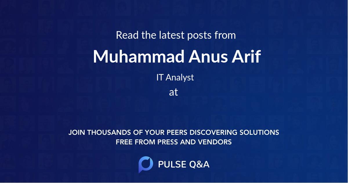 Muhammad Anus Arif