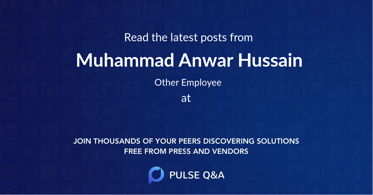 Muhammad Anwar Hussain