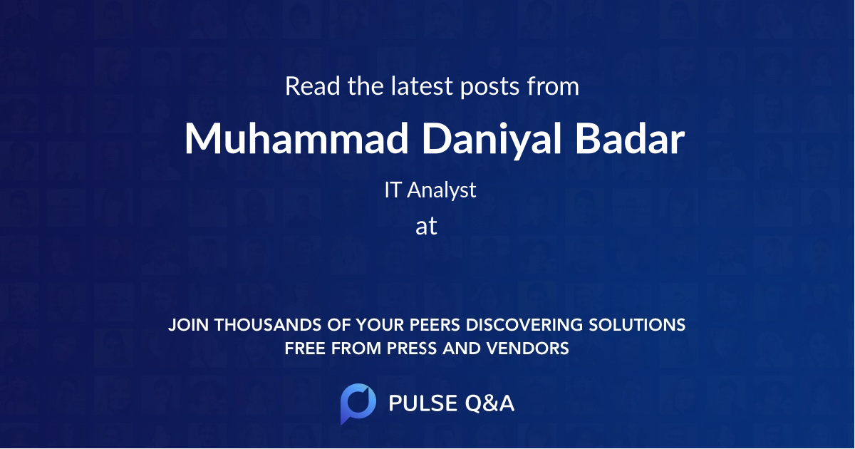 Muhammad Daniyal Badar