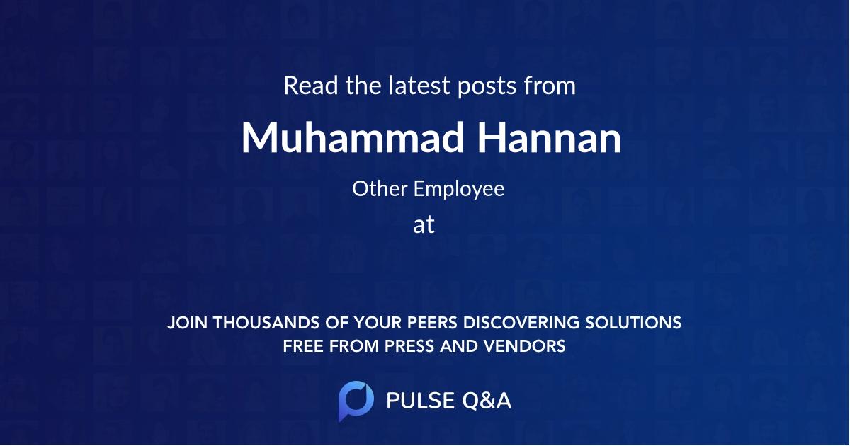 Muhammad Hannan