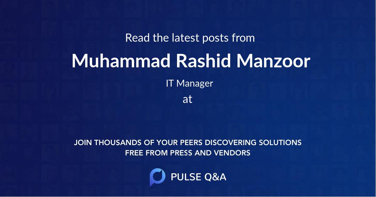 Muhammad Rashid Manzoor