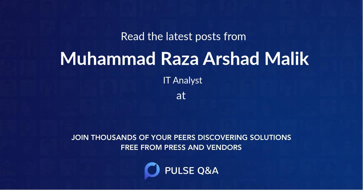 Muhammad Raza Arshad Malik