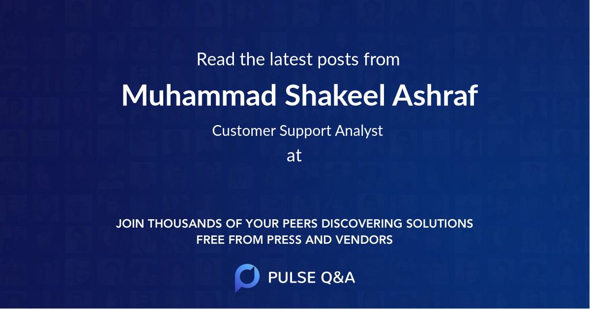 Muhammad Shakeel Ashraf