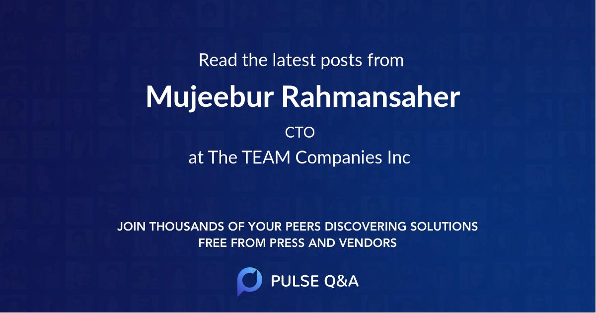 Mujeebur Rahmansaher
