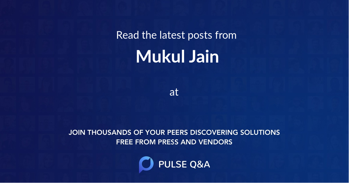 Mukul Jain