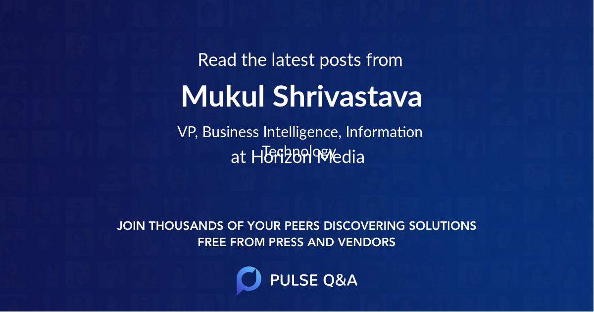 Mukul Shrivastava