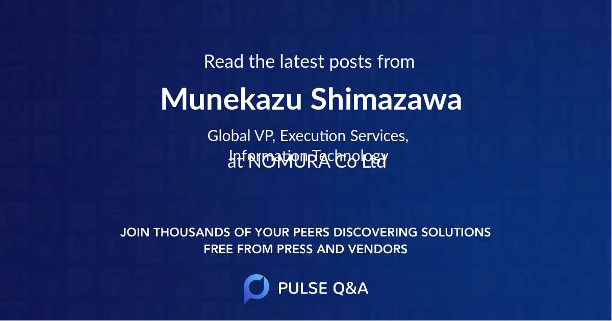 Munekazu Shimazawa