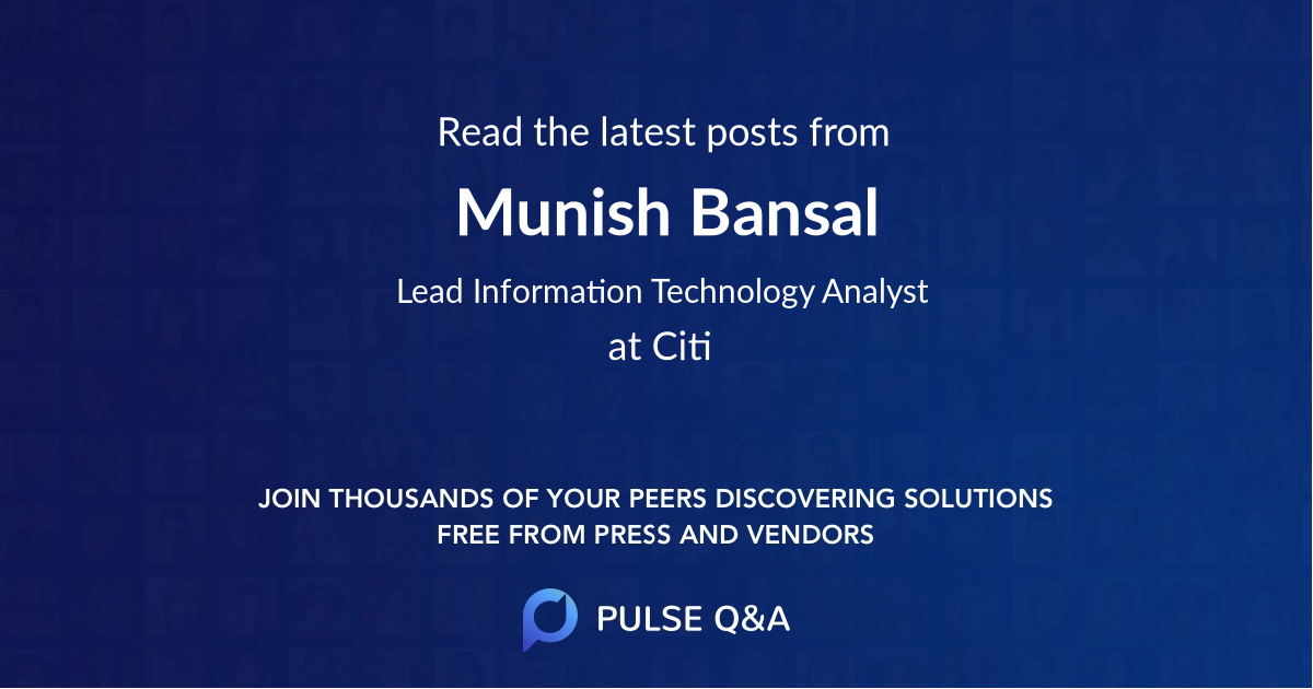Munish Bansal
