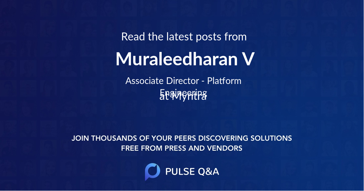 Muraleedharan V