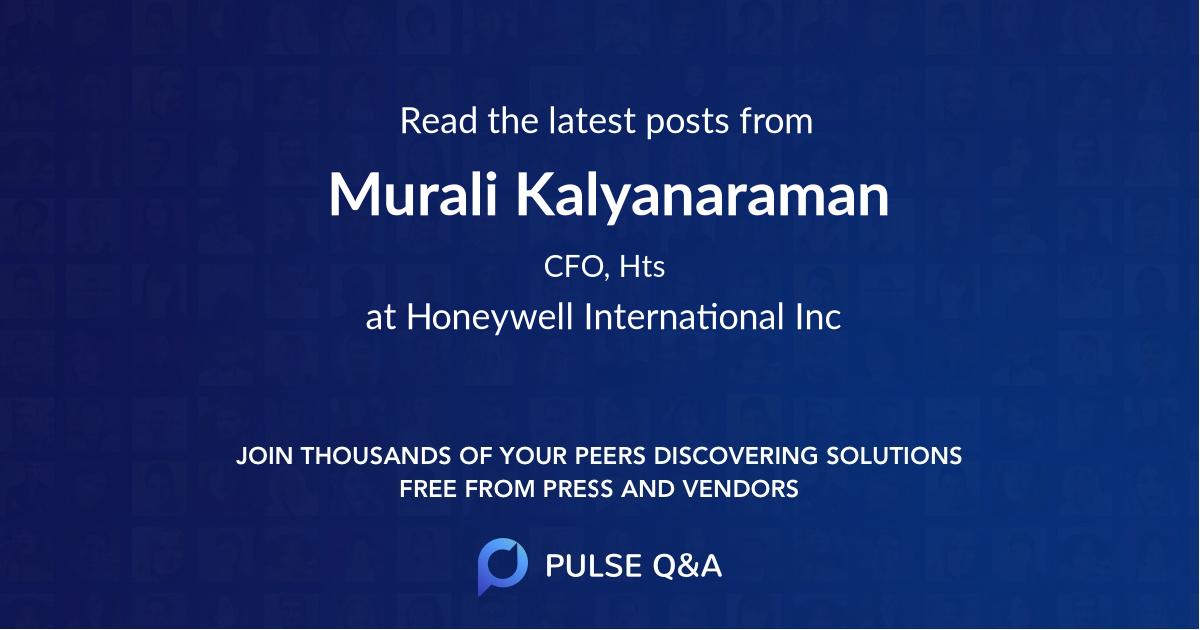 Murali Kalyanaraman