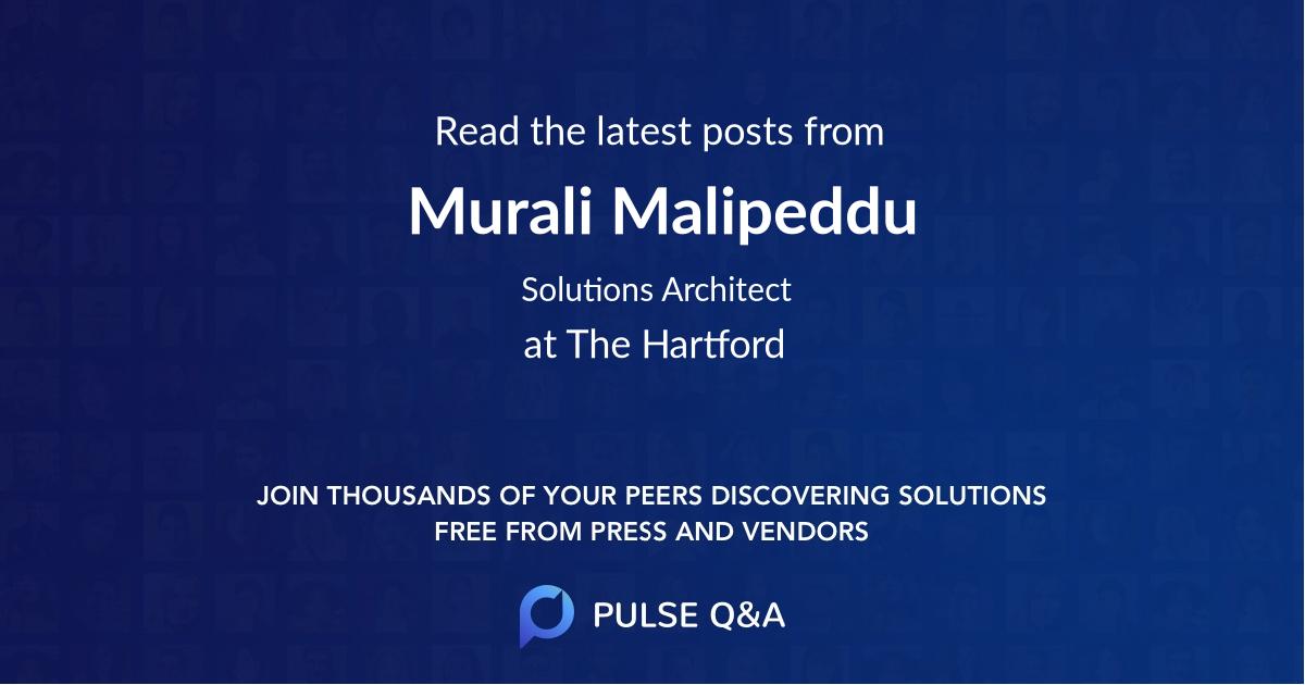 Murali Malipeddu