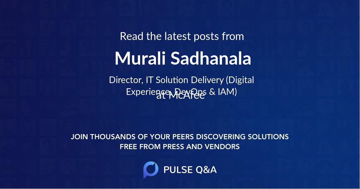 Murali Sadhanala