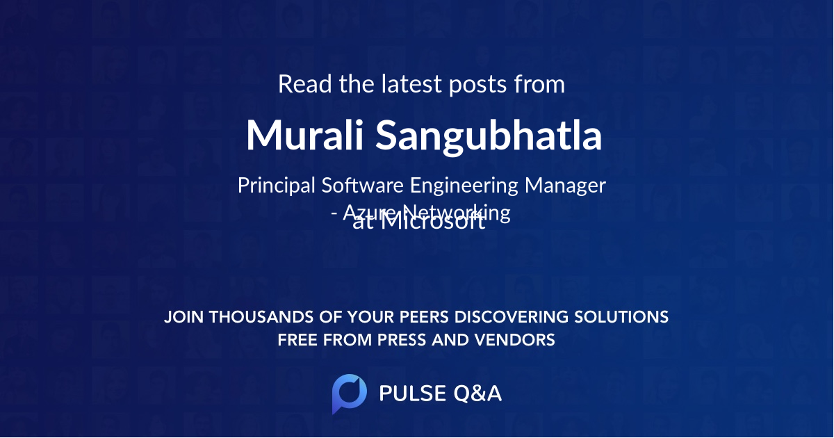 Murali Sangubhatla