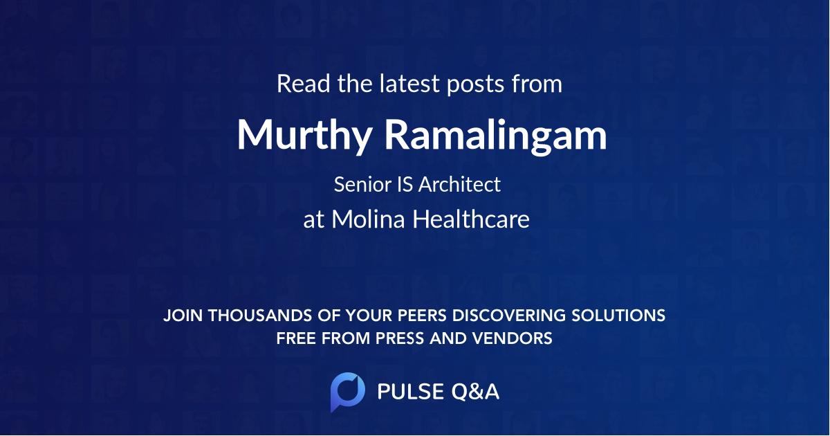 Murthy Ramalingam