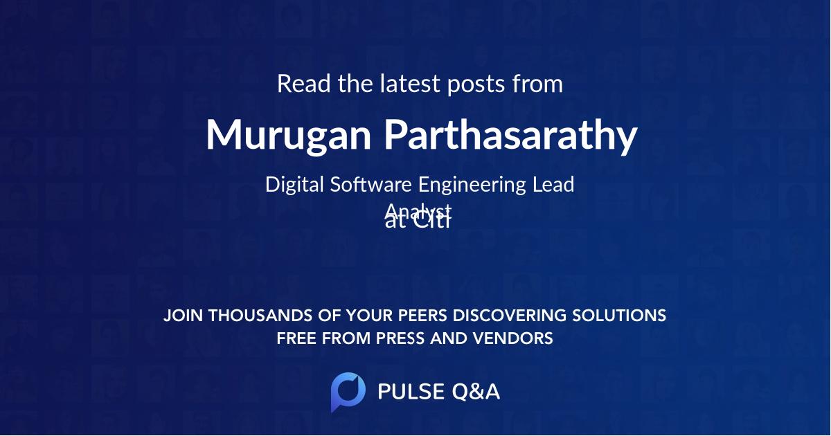 Murugan Parthasarathy