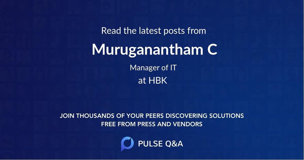 Muruganantham C