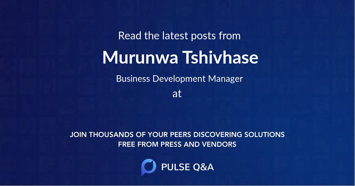 Murunwa Tshivhase