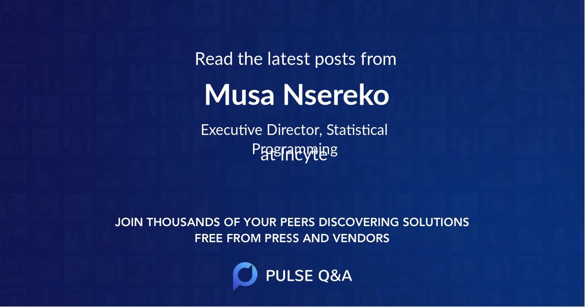 Musa Nsereko
