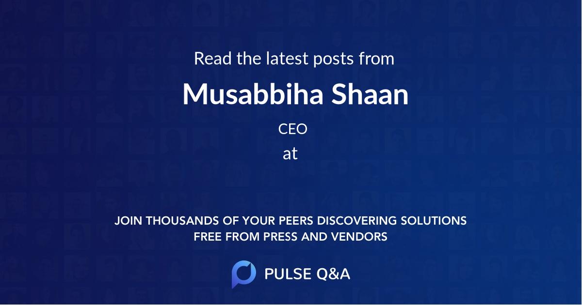 Musabbiha Shaan