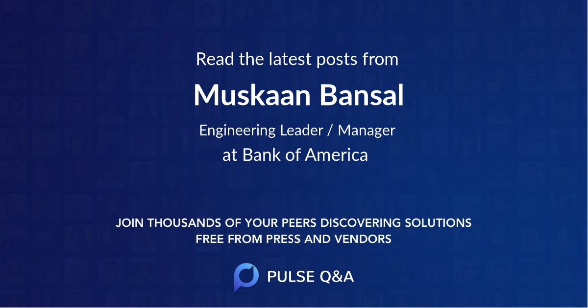 Muskaan Bansal