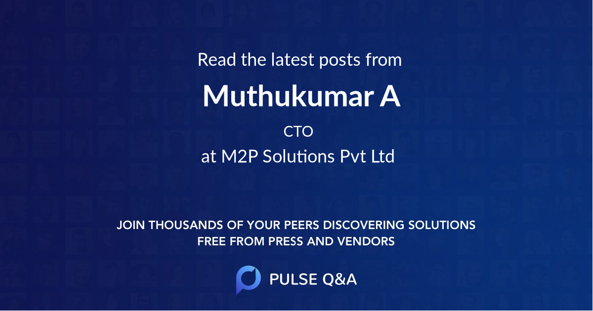 Muthukumar A