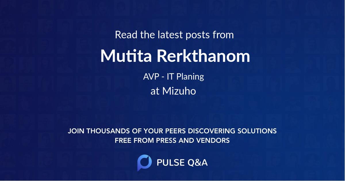 Mutita Rerkthanom