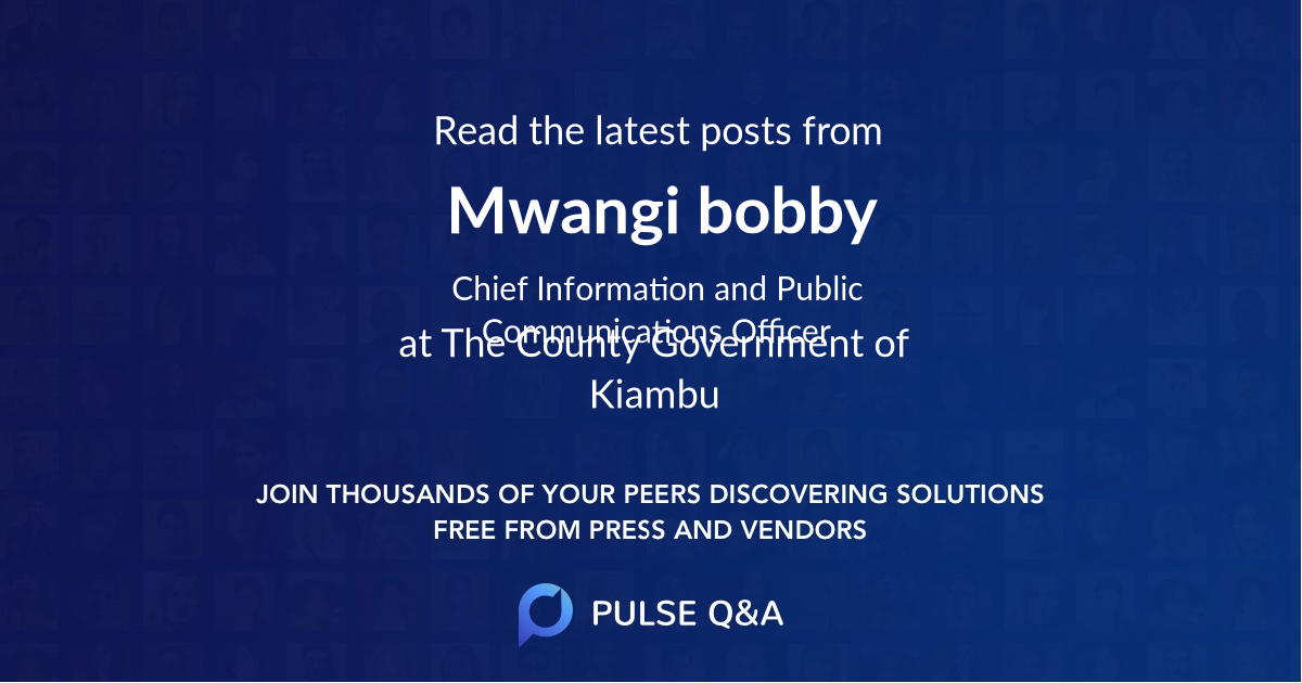 Mwangi bobby