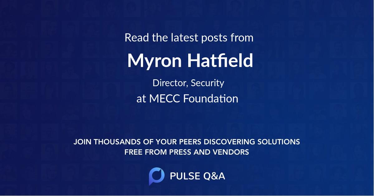 Myron Hatfield
