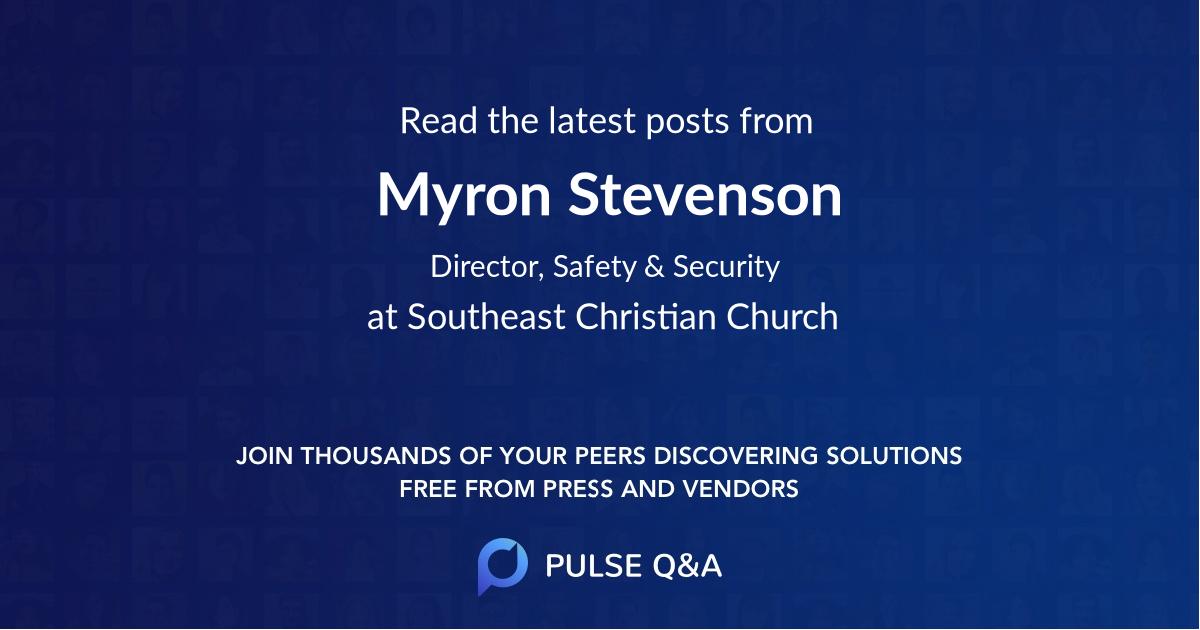 Myron Stevenson