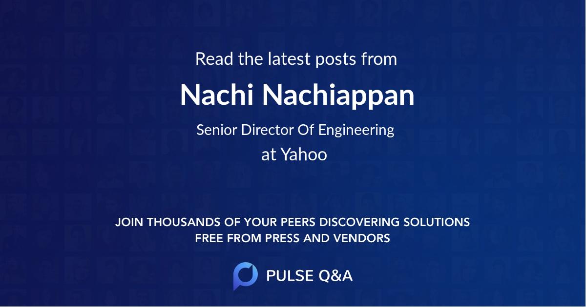 Nachi Nachiappan