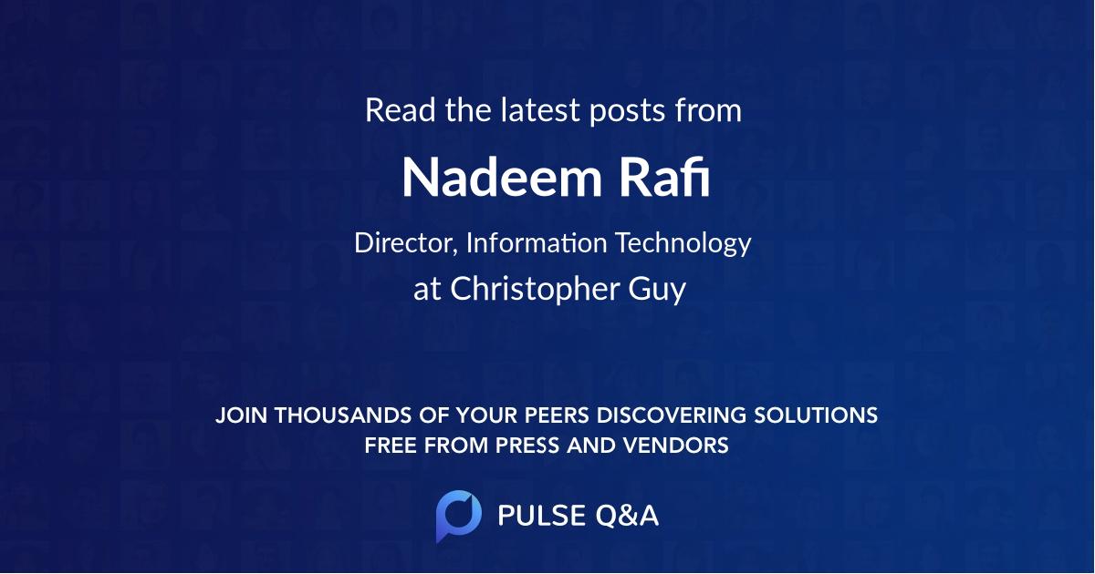 Nadeem Rafi