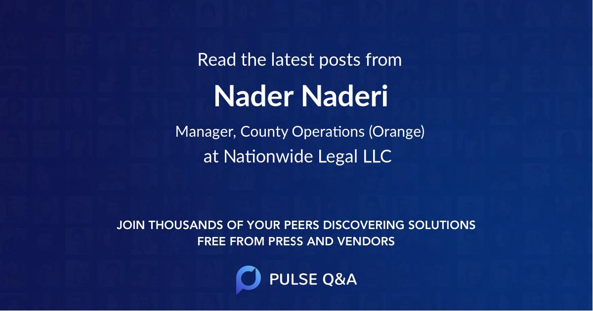 Nader Naderi