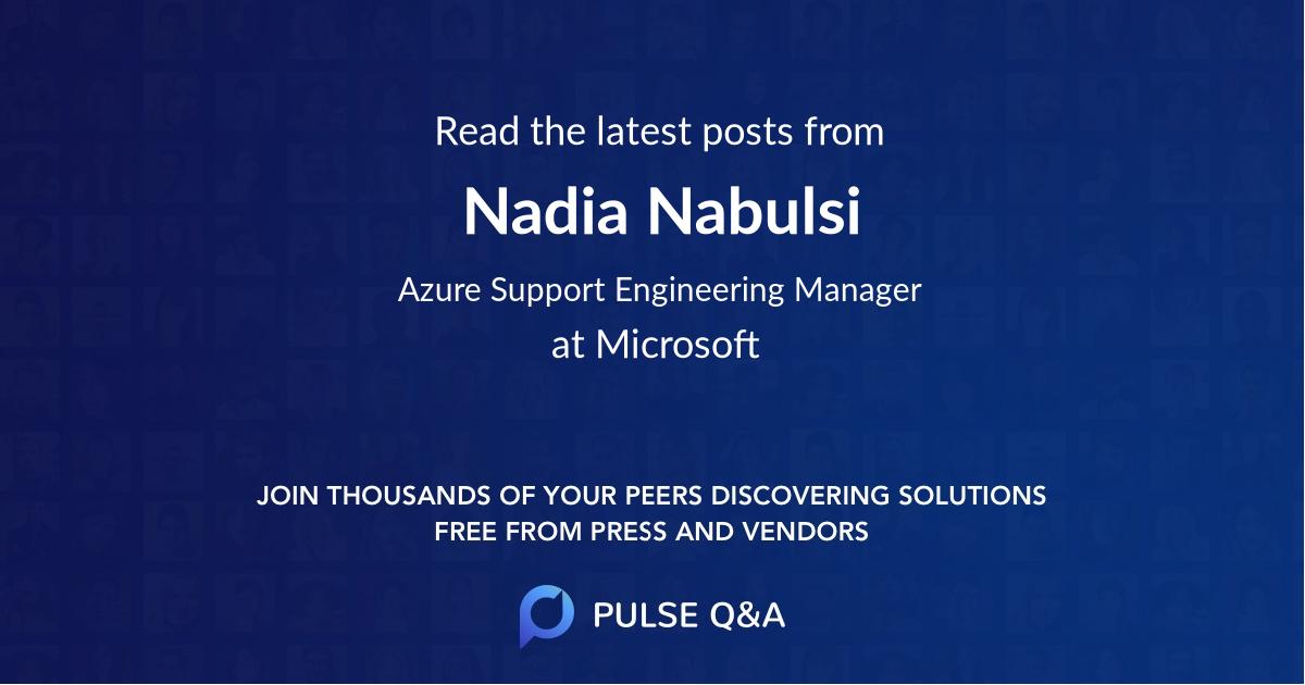Nadia Nabulsi