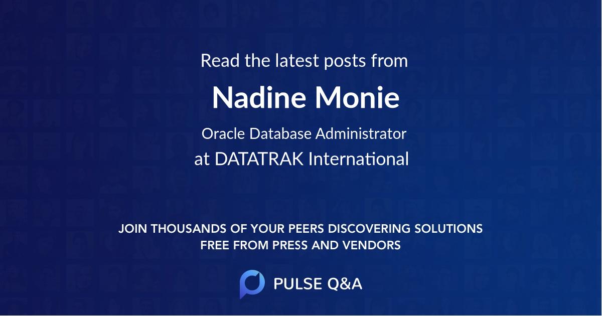 Nadine Monie
