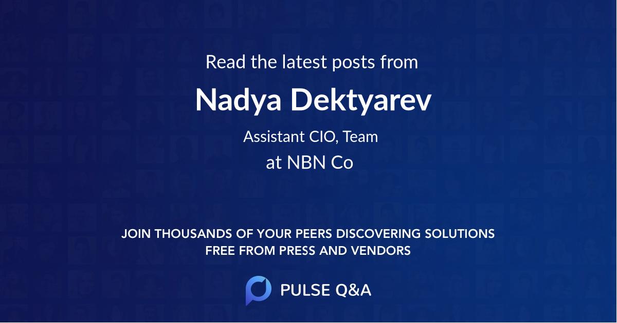 Nadya Dektyarev