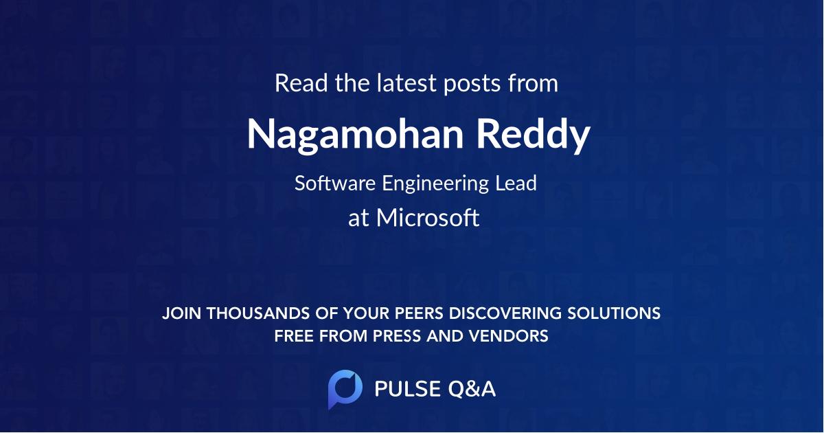 Nagamohan Reddy