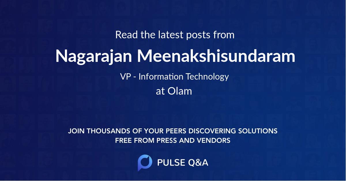 Nagarajan Meenakshisundaram