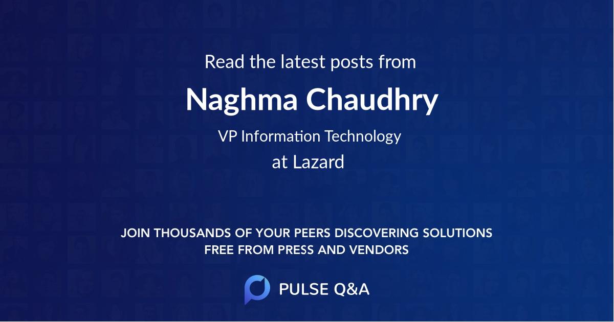Naghma Chaudhry
