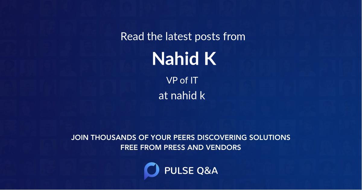 Nahid K