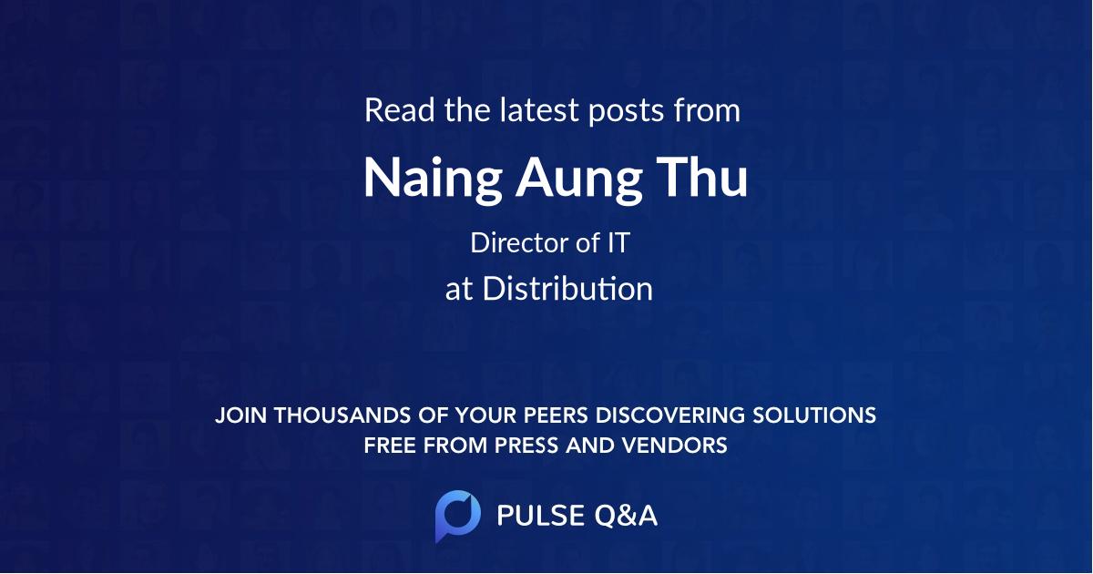 Naing Aung Thu