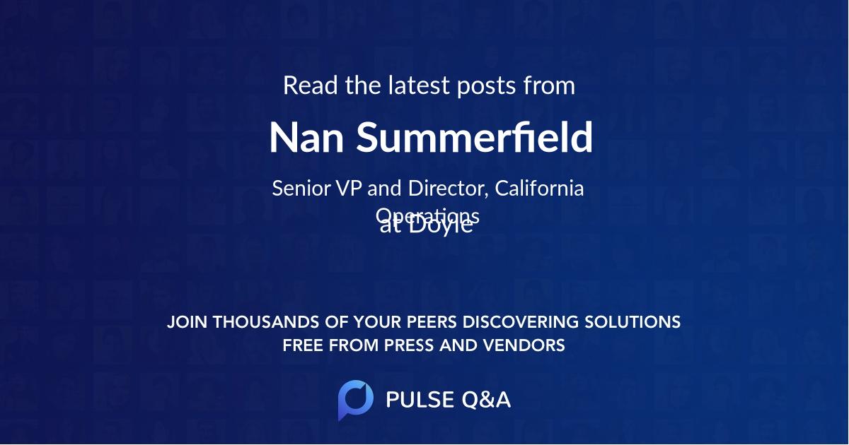 Nan Summerfield