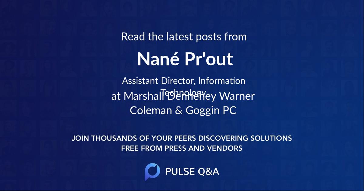 Nané Pr'out