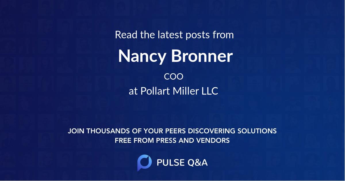 Nancy Bronner