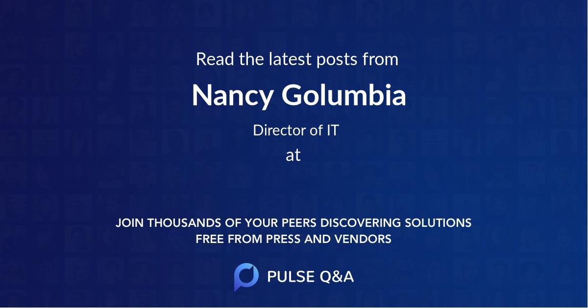 Nancy Golumbia