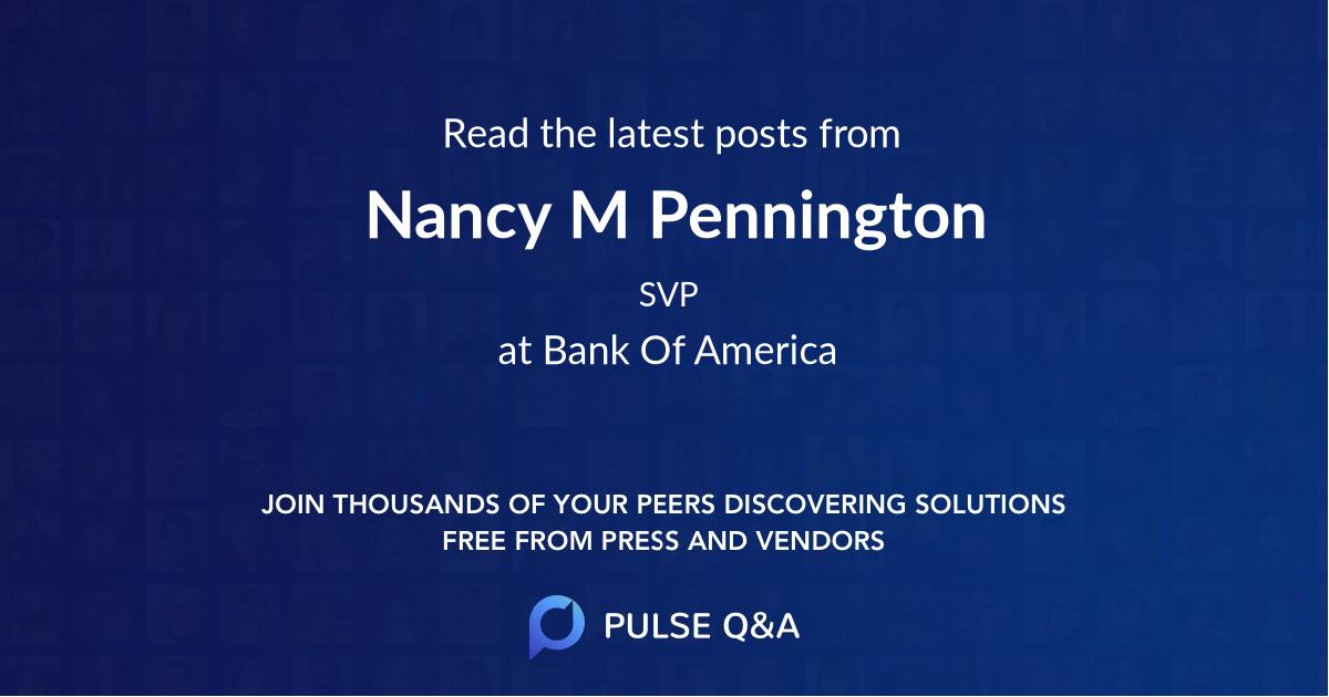 Nancy M Pennington