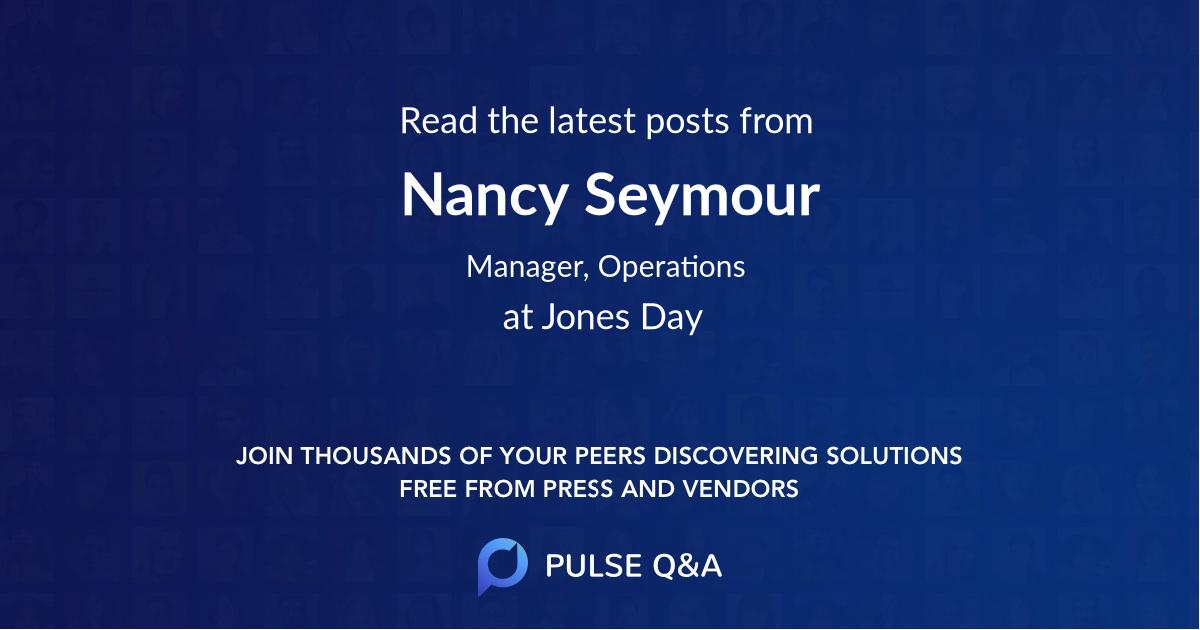 Nancy Seymour