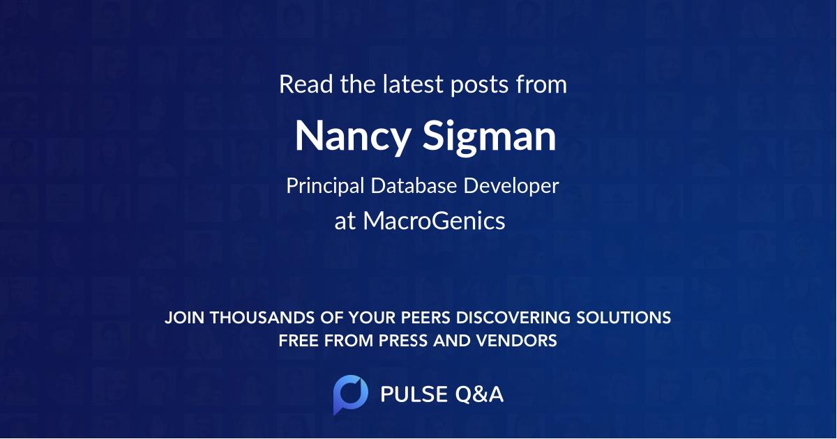 Nancy Sigman