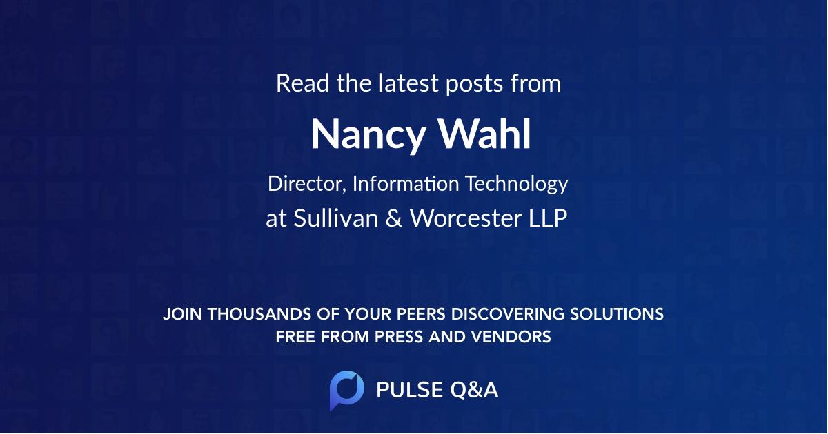 Nancy Wahl